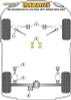 Powerflex Heritage Gearbox Mount Rear Insert Kit - 105 115 series inc GT, GTV (63-77), Spider (66-94) - PFF1-410H