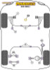 Powerflex Front Wishbone Rear Bush Anti-Lift & Caster Offset - S40 (2004 onwards) - PFF19-1002G