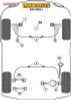 Powerflex Front Wishbone Rear Bush Anti-Lift & Caster Offset - V50 (2004 onwards) - PFF19-1002G