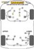 Powerflex Track Front Lower Arm Front Bushes Caster Offset - Civic Mk7 EP/EU inc. Type-R (2001-2005) - PFF25-301GBLK