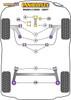 Powerflex Track Rear Spring Upper Isolator  - Mazda 2 (2003 - 2007) - PFR19-2030BLK