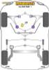 Powerflex Rear Shock Absorber Top Mounting Bushes - 500 inc Abarth (2007-) - PFR16-516