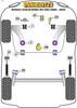 Powerflex Track Lower Torque Mount (Track/Msport) - Clio III Sport 197/200 (2005 - 2012) - PFF60-8025BLK