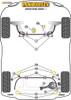 Powerflex Track Lower Engine Mount Insert - XC60 (2009 onwards) - PFF88-1130BLK