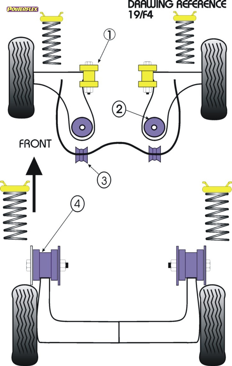 Auto-Ersatz- & -Reparaturteile 2 in Box PFR16-710 Powerflex Rear Beam Mounting Bush ROAD SERIES
