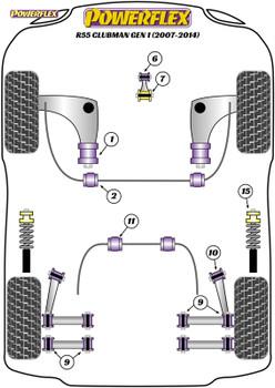Powerflex Jack Pad Adaptor - R55 Clubman Gen 1 (2007 - 2014) - PF5-4660