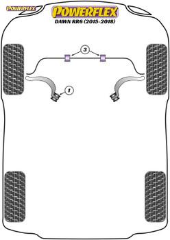 Powerflex Front Radius Arm To Chassis Bush - Dawn RR6 (2015 - 2018) - PFF5-7001