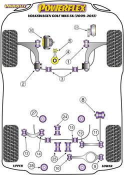 Powerflex Jack Pad Adaptor - Golf MK6 5K (2009-2012) - PF3-1661