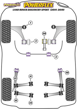Powerflex Rear Lower Rear Control Arm Inner Bushes - Discovery Sport (2014 - 2019) - PFR32-714