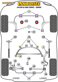 Powerflex Heritage Adjustable Rear Lower Control Arm Kit - Z4 E85 & E86 (2003-2009) - PFR5-4615GH