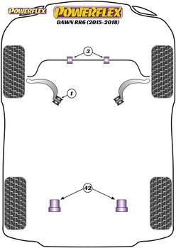 Powerflex Track Rear Diff Rear Mounting Bush  - Dawn RR6 (2015 - 2018) - PFR5-6031BLK