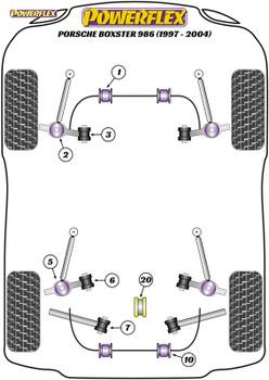 Powerflex Jack Pad Adaptor - Boxster 986 (1997-2004) - PF57-560