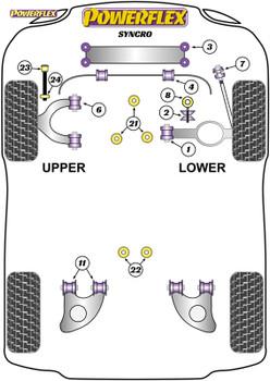 Powerflex Heritage Front Bump Stops  - T25/T3 Type 2 (1979 - 1992) - PFF85-1021H