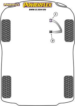 Powerflex Front Wishbone Front Bushes - i3 (2013 - ON) - PFF5-8001