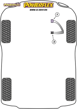 Powerflex Front Wishbone Rear Bushes - i3 (2013 - ON) - PFF5-8002