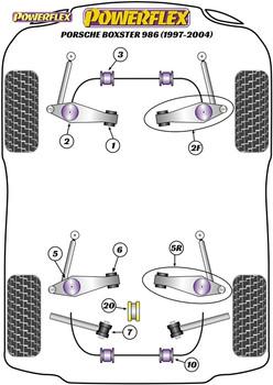 Powerflex Track Track Control Arm & Bush Kit - Boxster 986 (1997-2004) - PF57K-1001BLK