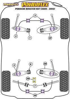 Powerflex Track Control Arm & Bush Kit (Adjustable) - Boxster 987 (2005-2012) - PF57K-1001G