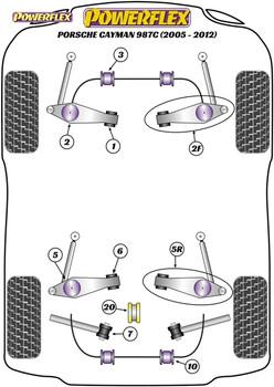 Powerflex Track Track Control Arm & Bush Kit - Cayman 987C (2005 - 2012) - PF57K-1002BLK