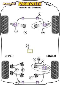 Powerflex Track Track Control Arm & Bush Kit - 997 GT2, GT3 & GT3RS - PF57K-1001BLK