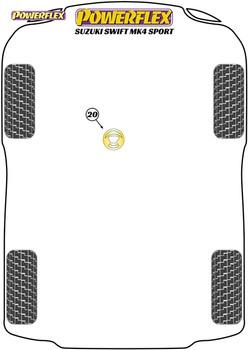 Powerflex Track Lower Engine Mount Insert - Swift Sport Mk4 (ZC33S) (2018-) - PFF73-520BLK