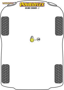 Powerflex Track Lower Torque Mount (Track/Msport) - Cube (2009 on ) - PFF60-8025BLK