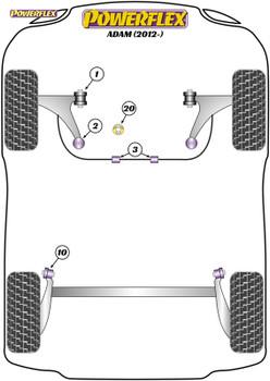 Powerflex Exhaust Mount - Adam (2012-) - EXH039