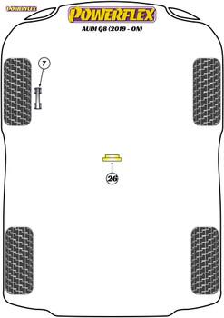Powerflex Transmission Mount Insert (Diesel) - Q8 (2019 - ON) - PFF3-726R