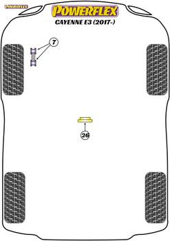 Powerflex Transmission Mount Insert (Diesel) - Cayenne E3 9Y (2018 on) - PFF3-726R