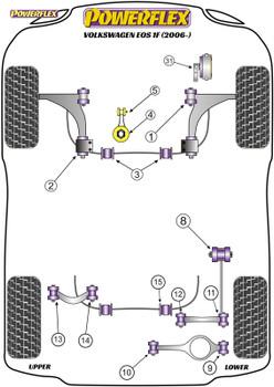 Powerflex Jacking Point Insert Kit of 4 - Eos 1F (2006-) - PF3-1663K