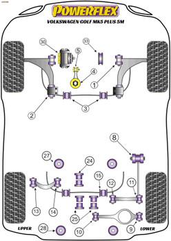 Powerflex Jacking Point Insert - Golf Plus 5M - PF3-1663
