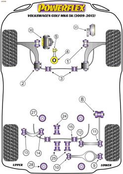 Powerflex Jacking Point Insert Kit of 4 - Golf MK6 5K (2009-2012) - PF3-1663K