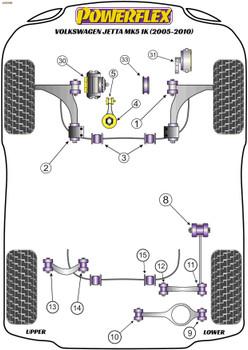Powerflex Jacking Point Insert Kit of 4 - Jetta Mk5 1K (2005-2010) - PF3-1663K