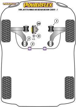 Powerflex Jacking Point Insert Kit of 4 - Jetta MK6 A6 Rear Beam (2011 - ON) - PF3-1663K