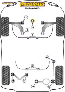 Powerflex Jacking Point Insert Kit of 4 - Touran (2017 - ) - PF3-1663K