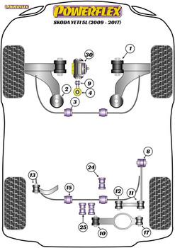 Powerflex Rear Diff Front Mounting Bush  - Yeti 5L (2009 - 2017) - PFR85-523