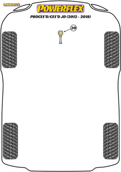 Powerflex Track Lower Torque Mount Bush - Motorsport - Cee'd/Procee'd JD (2012-2018) - PFF26-120BLK