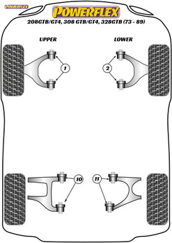 Powerflex Rear Upper Wishbone Inner Bush - 208GTB/GT4, 308GTB/GT4, 328GTB (1973 - 1989) - PF17-200