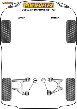 Powerflex Rear Lower Wishbone Inner Bush - 365 GTB/4 Daytona (1968 - 1973) - PF17-200