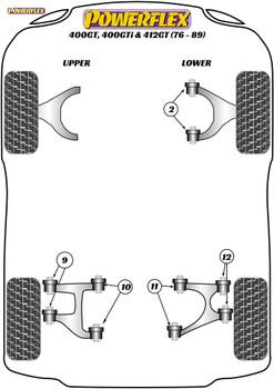 Powerflex Rear Upper Wishbone Outer Bush - 400GTi, 412GT (1976 - 1989) - PF17-200