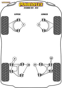 Powerflex Front Upper Wishbone Bush - 512BBi (1981 - 1984) - PF17-200