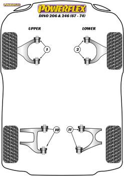 Powerflex Front Upper Wishbone Bush - Dino 206/246GT (1967 - 1974) - PF17-200