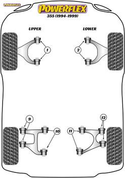 Powerflex Rear Upper Wishbone Outer Bush - F355 (1994 - 1999) - PF17-200