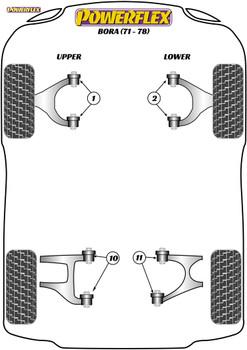 Powerflex Rear Upper Wishbone Inner Bush - Bora (1971 - 1978) - PF17-200