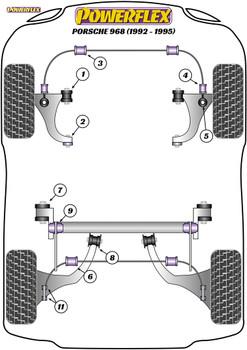 Powerflex Rear Drop Link Bush - 968 (1992-1995) - PFR57-211