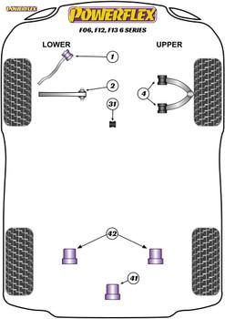 Powerflex Track Front Upper Wishbone Bush Camber Adjustable - F06, F12, F13 6 Series - PFF5-6004GBLK