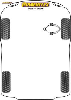 Powerflex Track Front Upper Wishbone Bush  - i8 (2014 - ON) - PFF5-6004BLK