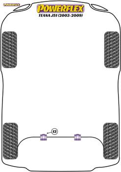 Powerflex Rear Anti Roll Bar Bush 25mm - Teana J51 (2003 - 2009) - PFR46-613-25
