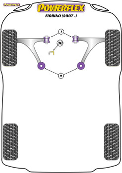 Powerflex Upper Gearbox Mount Insert (Diesel) - Fiorino (2007-on) - PFF1-1130R