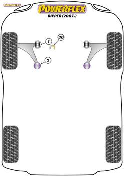 Powerflex Upper Gearbox Mount Insert (Diesel) - Bipper (2007-on) - PFF1-1130R