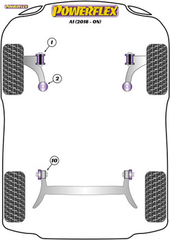 Powerflex Track Front Wishbone Rear Bush - A1 GB (2018-on) - PFF85-2002BLK